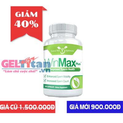Winmax Plus viên uống hỗ trợ tăng kích thước và chống xuất tinh sớm