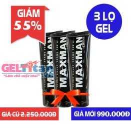 Giảm 55% cho bộ Combo 3 lọ Gel Maxman USA hỗ trợ tăng kích thước dương vật