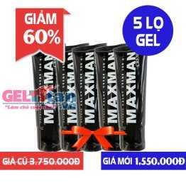 Giảm 60% khi mua Combo 5 lọ Gel Maxman USA hỗ trợ tăng kích thước dương vật