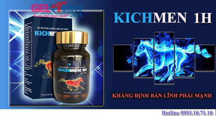 Nam giới có nên dùng kichmen 1h hỗ trợ sinh lý không?