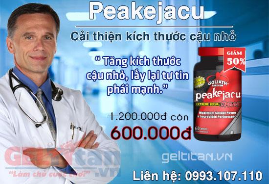 Peakejacu hỗ trợ cải thiện kích thước cậu nhỏ