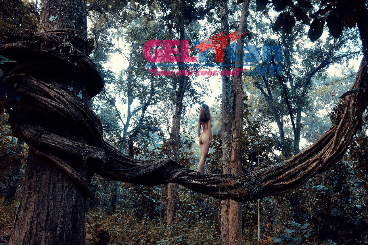 ảnh khỏa thân phụ nữ việt nam trong rừng