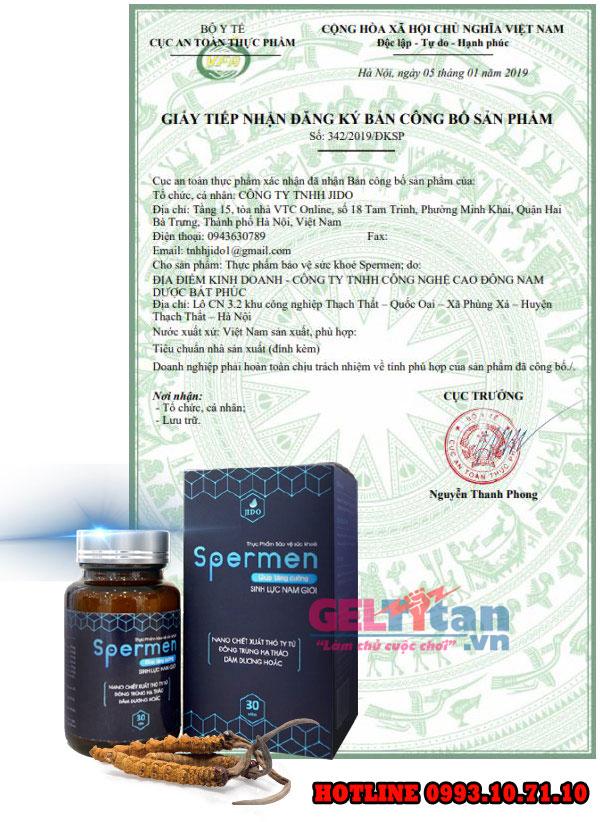 giấy phép hoạt động của spermen
