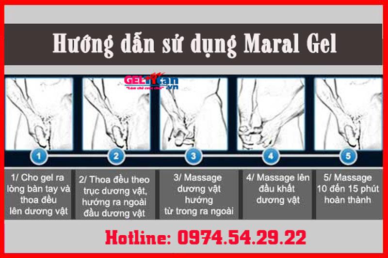 cách sử dụng maral gel