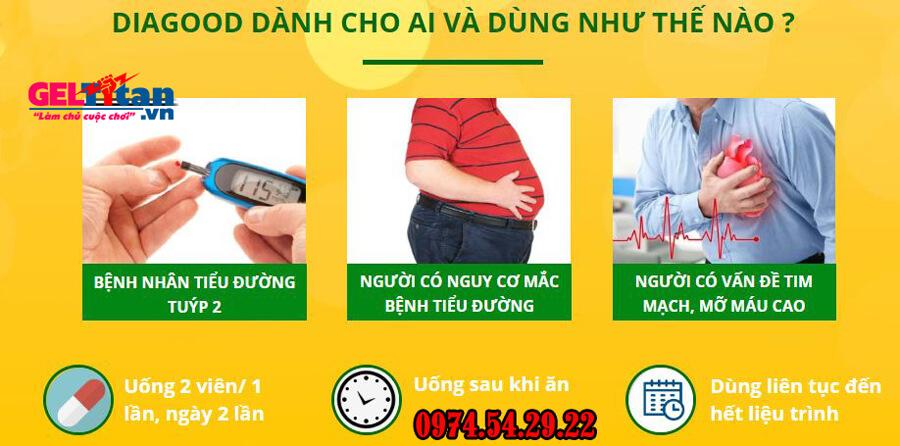 sử dụng Diagood tiểu đường