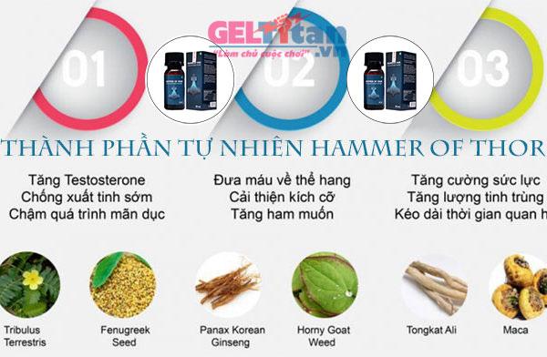 Giọt dưỡng chất Hammer of Thor điều trị xuất tinh sớm hiệu quả
