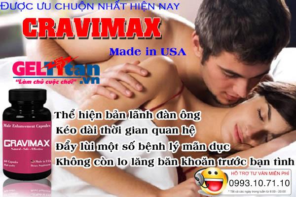 công dụng cravimax cải thiện sinh lý nam giới